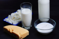 Milk and derived products Royalty Free Stock Images