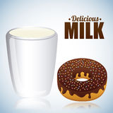 Milk design Royalty Free Stock Photos