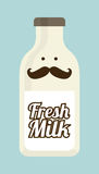 Milk design Stock Image