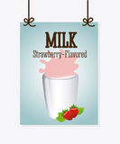 Milk design Royalty Free Stock Images