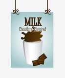 Milk design Stock Photography