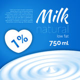 Milk design, Milk wave, blue triangle background, heart, love milk vector illustration. Milk design, Milk wave, blue triangle background heart, love milk vector Royalty Free Stock Images