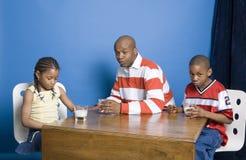 Milk drinkers Stock Photo