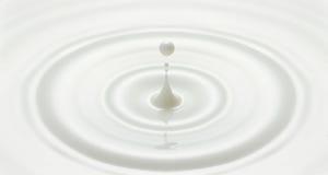 Milk drop created ripple. Milk drop or white liquid drop created ripple royalty free stock images