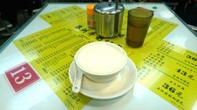 Milk Egg Custard in Cha Chaan teng stock image