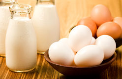 Milk and Eggs Royalty Free Stock Image