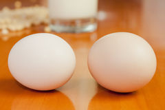 Milk and eggs Stock Photography