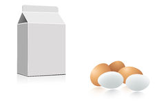 Milk and eggs Royalty Free Stock Photo