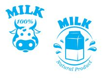 Milk emblem or symbol Royalty Free Stock Photography