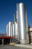 Milk factory. HOKITIKA, NEW ZEALAND, 27 JUNE, 2016: Storage silos at the Westland Milk Products factory  in Hokitika, New Zealand ready for deliveries of fresh Stock Images