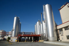 Milk factory. HOKITIKA, NEW ZEALAND, 27 JUNE, 2016: The milk tanker delivery bay at the Westland Milk Products factory in Hokitika, New Zealand Stock Photo