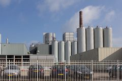 Milk factory in Hoogeveen Stock Photo
