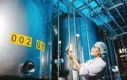 Milk factory production Stock Photography