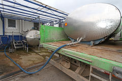 Milk factory Stock Image