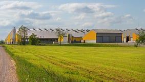 Milk farm in countryside Stock Image