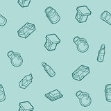 Milk flat outline isometric pattern Stock Image