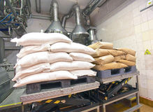 Milk flour cream storage bags Stock Image