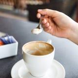 Milk foam, coffee foam Stock Images