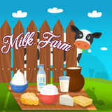 Milk Food Concept Stock Images