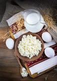 Milk and fresh eggs Stock Photo