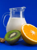 Milk with Fruits Royalty Free Stock Photo