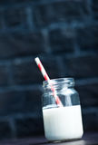 Milk in glass Stock Photography
