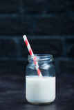 Milk in glass Stock Photo