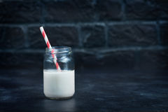 Milk in glass Royalty Free Stock Image