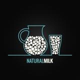 Milk glass bottle line design background. 8 eps Stock Images