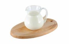 Milk in glass jar Royalty Free Stock Photos