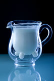 Milk glass jug Royalty Free Stock Photography