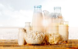 Milk, Glass, Milk Bottle Stock Photography