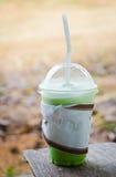 Milk green tea smoothie Royalty Free Stock Photos