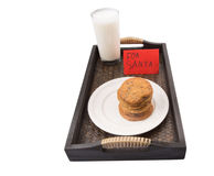 Milk And Home Made Cookies For Santa Claus II Stock Photo