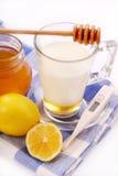 Milk with honey Royalty Free Stock Photos