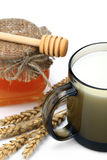 Milk and honey Stock Photography