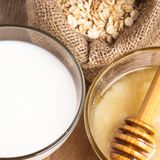 Milk and honey Stock Image
