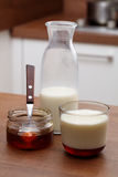 Milk with honey Royalty Free Stock Photo