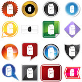 Milk Icon Set Royalty Free Stock Photos