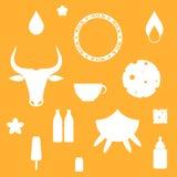 Milk. Icon set Stock Images