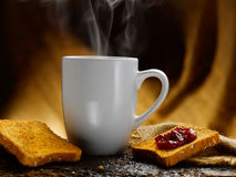 Milk jam and rusks Stock Images