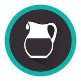 Milk jar isolated icon Royalty Free Stock Images