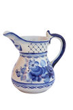 Milk jug. The milk jug, mural to gzhel style. Russia Royalty Free Stock Photos