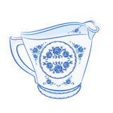 Milk jug faience part of porcelain vector Stock Photo
