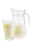 Milk in a jug and glass Royalty Free Stock Photos