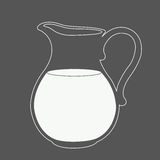 Milk jug illustration. Royalty Free Stock Photography