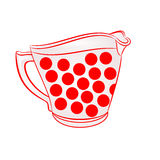 Milk jug with red dots vector Royalty Free Stock Images