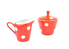 Milk jug and sugar bowl Stock Photo