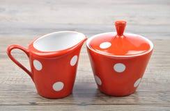 Milk jug and sugar bowl Stock Photography