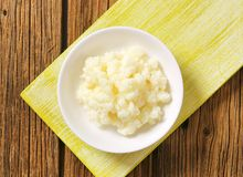 Milk kefir grains (Tibetan mushroom) stock photo